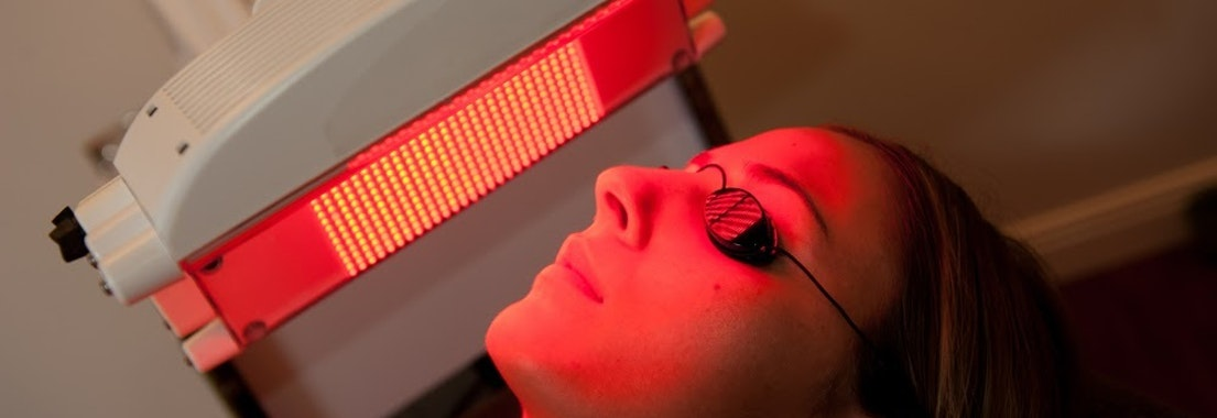 Light therapy on woman's face What Is Light Therapy, and Is it Right for You?