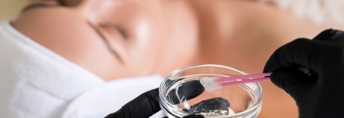 Woman having chemical peel skin treatment Aging Skin But Not Ready for Needles? Try a Chemical Peel