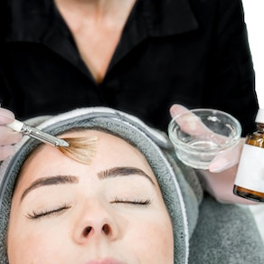 Woman having chemical peel applied Why Chemical Peels Are Safe and Recommended in the Winter