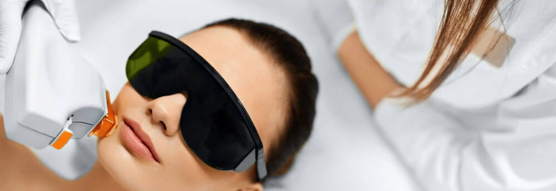 Woman receiving laser skin treatment Choosing the Best Laser Treatments for Your Skincare Needs