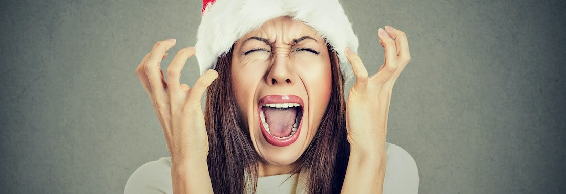 Woman under stress from the holidays Enjoy a Chemical Peel to Get Rid of Signs of Holiday Stress