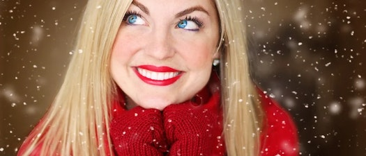 Woman with clear skin smiling Be Confident at Your Holiday Party with These Acne Treatments