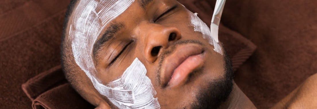 Man having chemical peel treatment New Year, New Skin. Why You Should Try a Chemical Peel
